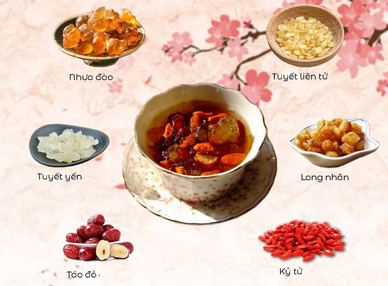 Cách nấu chè dưỡng nhan 10, 12 vị thơm ngon
