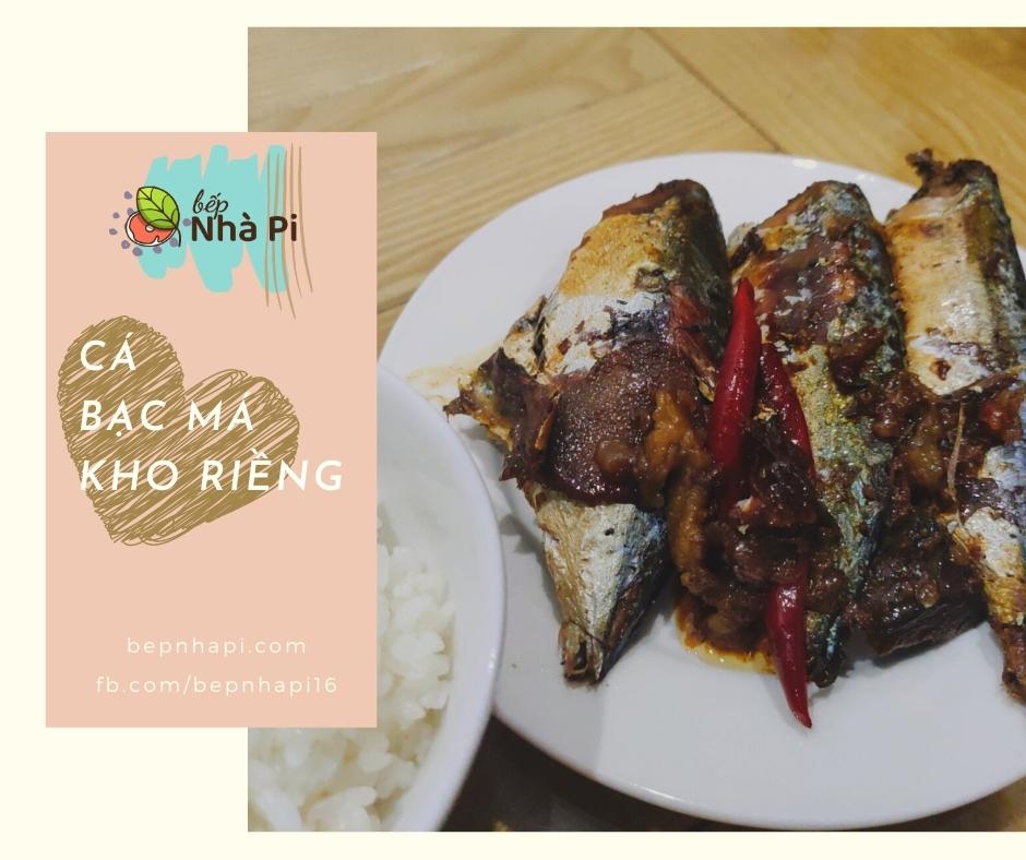 Cá bạc má kho riềng | bếp nhà pi | bepnhapi.com