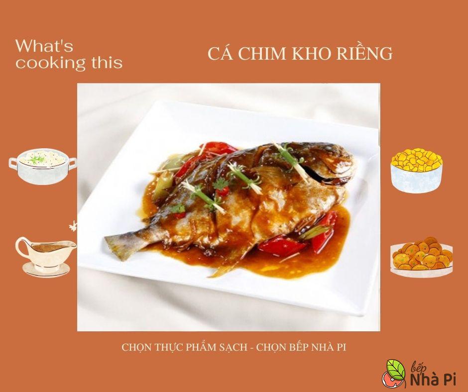 Cá chim kho riềng | bếp nhà pi | bepnhapi.com