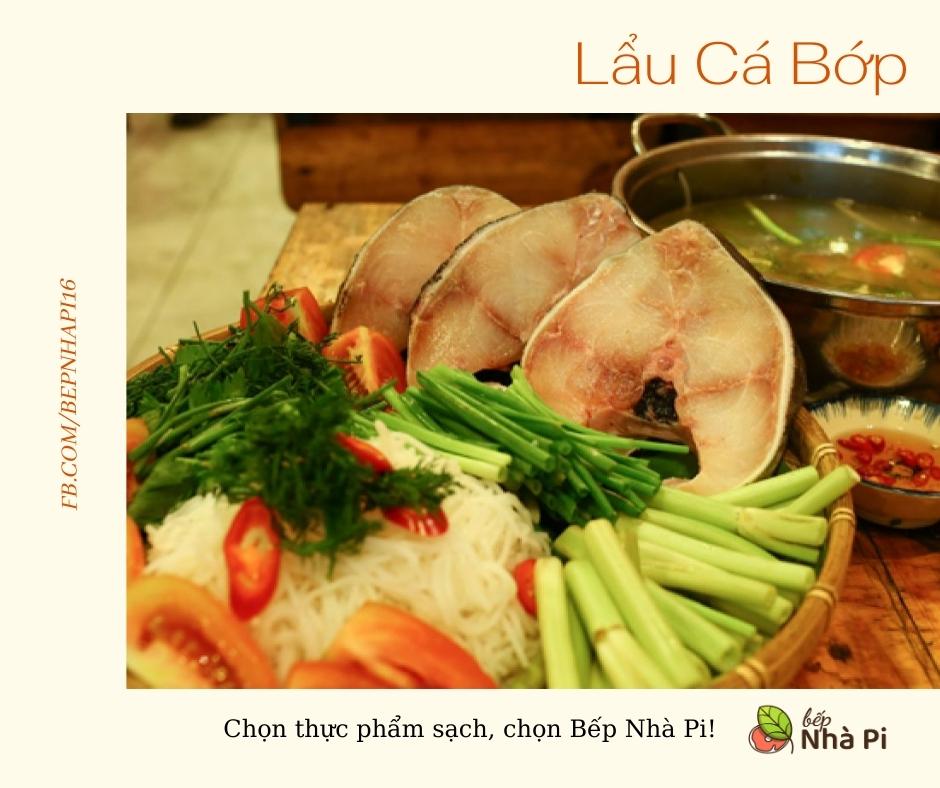 Lẩu cá bớp | bếp nhà pi | bepnhapi.com