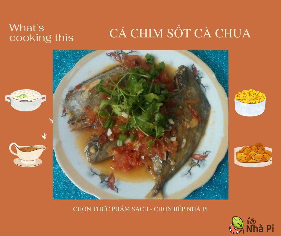 Cá chim sốt cà chua | bếp nhà pi | bepnhapi.com