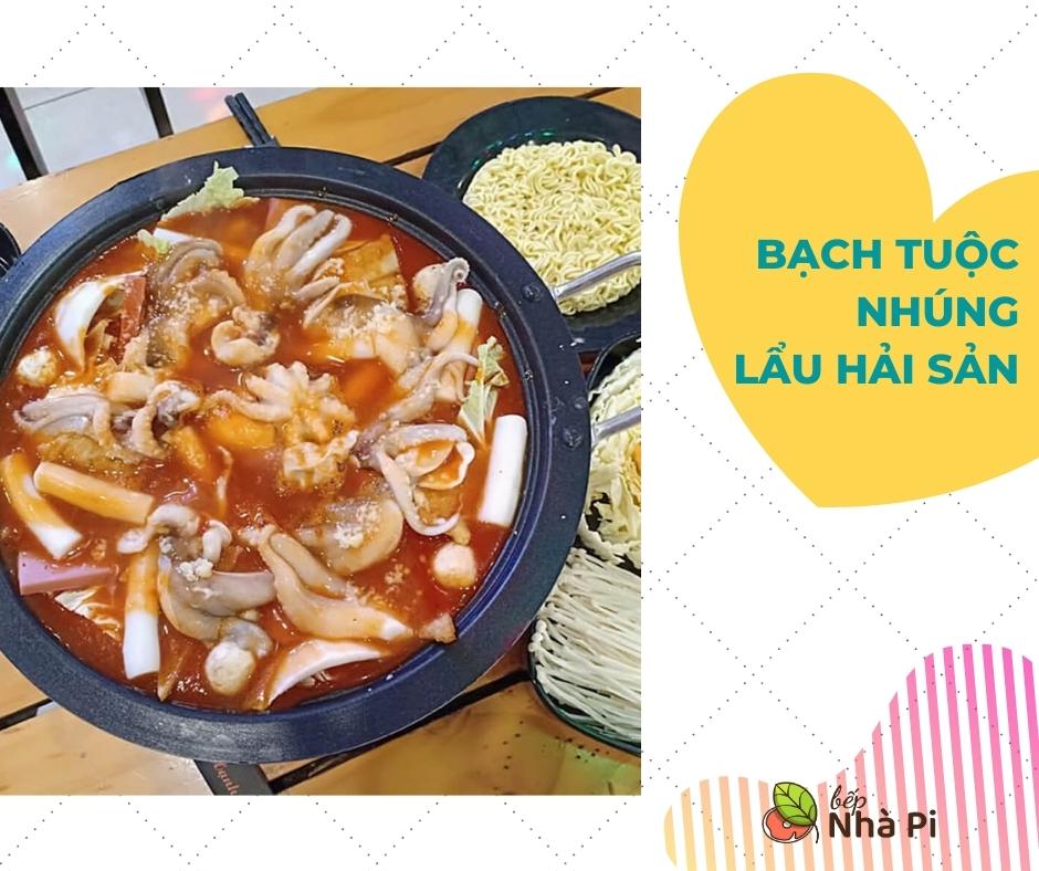 Bạch tuộc nhúng lẩu   bếp nhà pi   bepnhapi.com