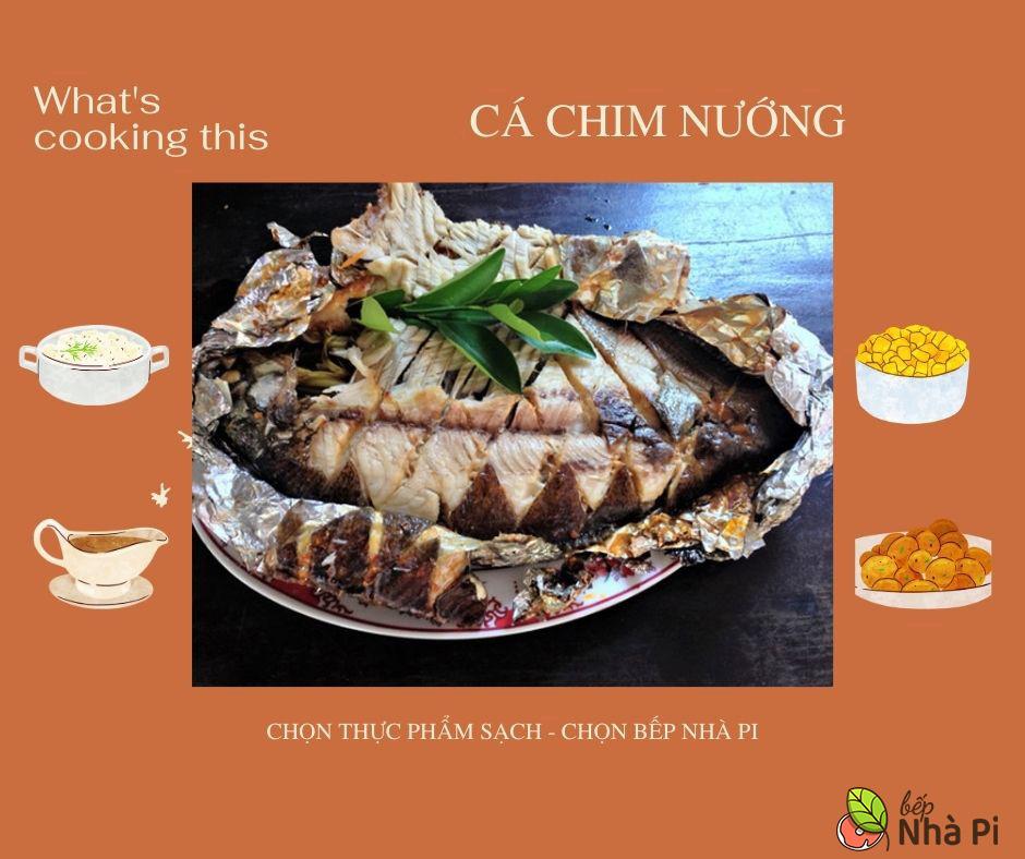 Cá chim nướng | bếp nhà pi | bepnhapi.com