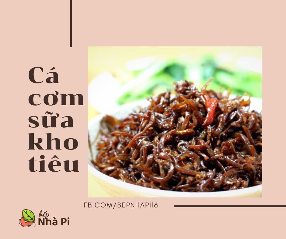 Cá cơm sữa kho tiêu | bếp nhà pi | bepnhapi.com | cá bờm | cá mờm