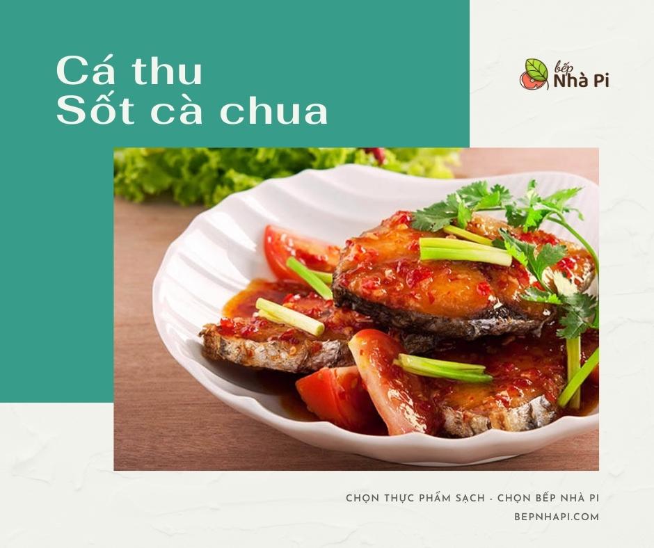 Cá thu sốt cà chua   bếp nhà pi   bepnhapi.com