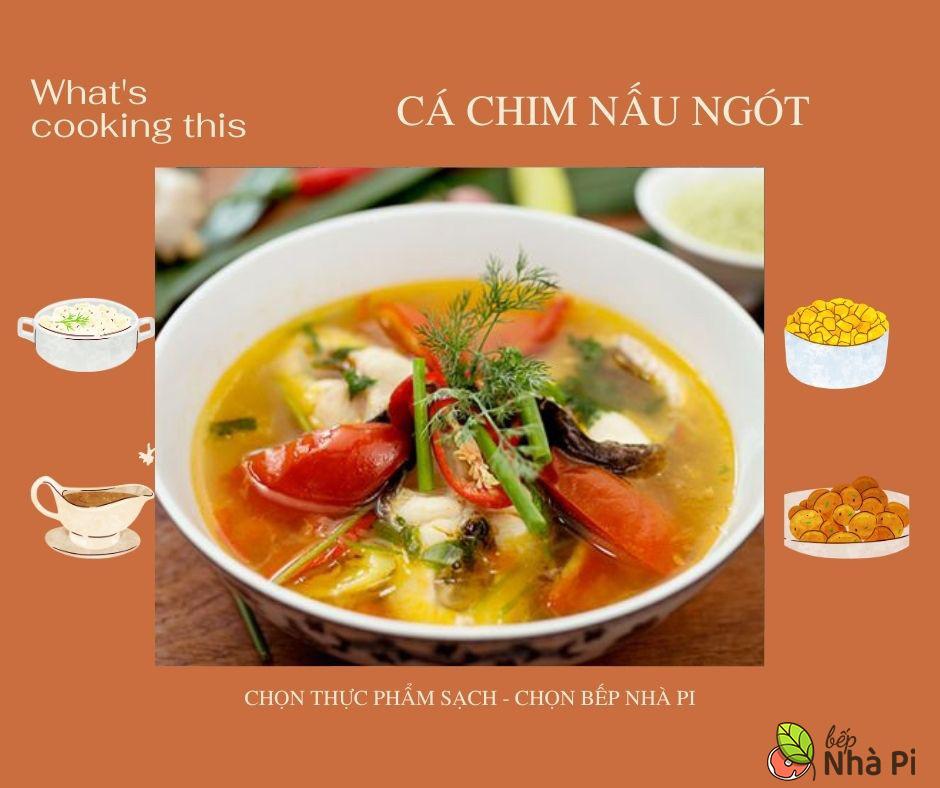 cách làm cá chim nấu ngót | bếp nhà pi | bepnhapi.com