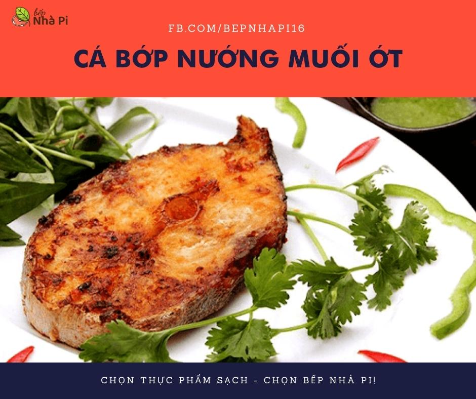 Cá bớp nướng muối ớt | bếp nhà pi | bepnhapi.com