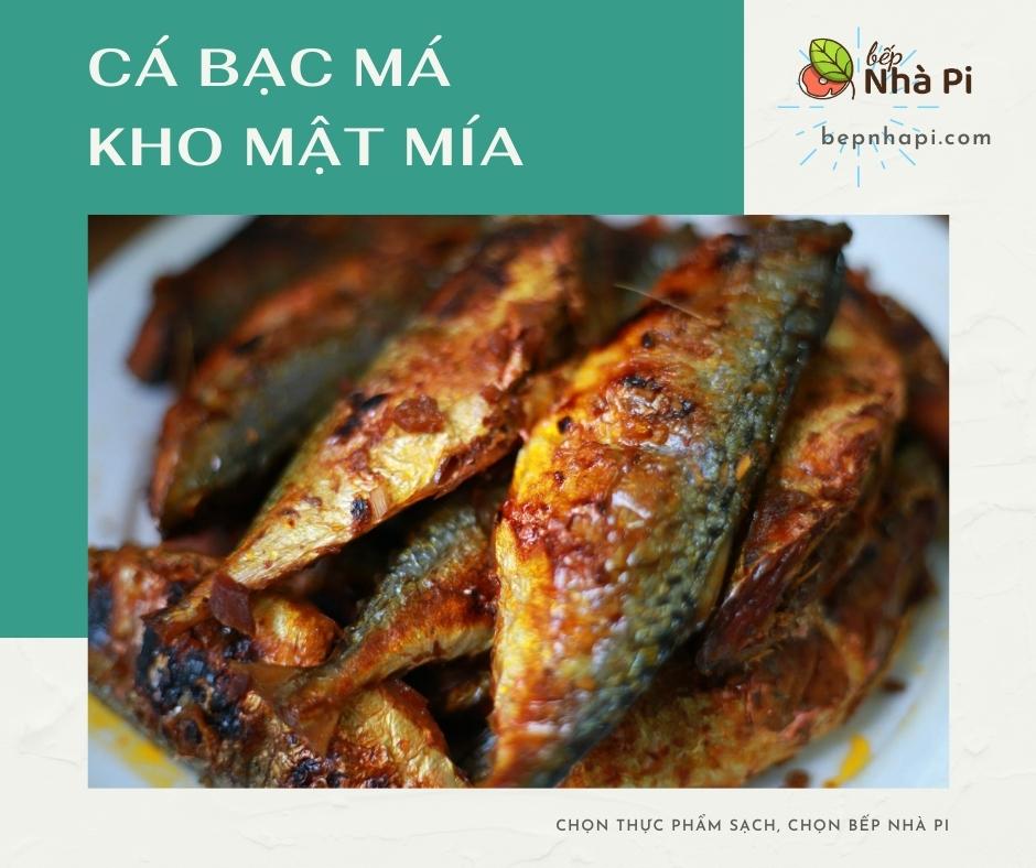 Cá bạc má kho mật mía   bếp nhà pi   bepnhapi.com