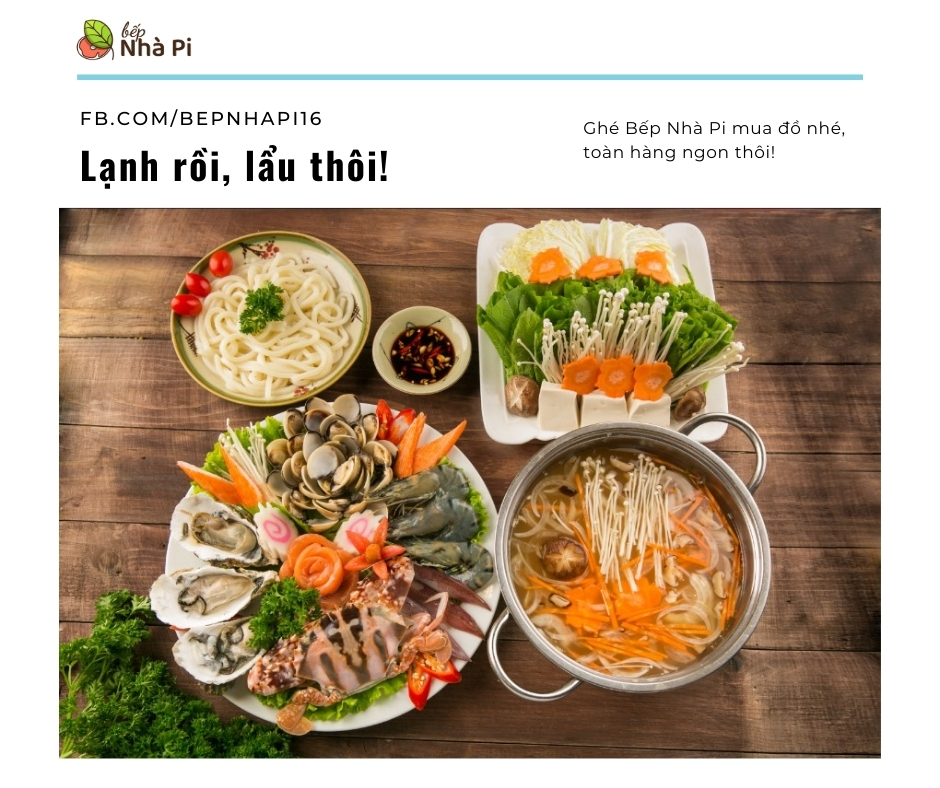 Làm lẩu hải sản tại nhà | Bếp Nhà Pi