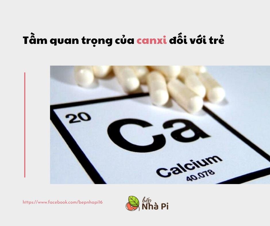 Tầm quan trọng của Canxi đối với trẻ