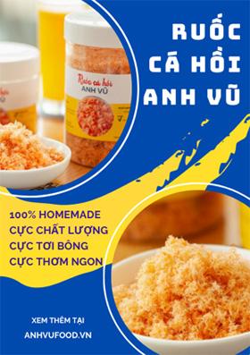 Ruốc cá hồi Anh Vũ | Anh Vũ Food